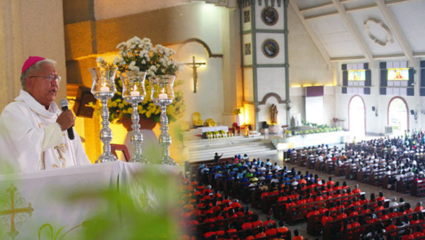 Bp. Wilfredo Manlapaz of Tagum led the culmination of the Year of the Laity in the Diocese of Tagum. Priests, religious and the lay faithful joined the celebration. (Contributed Photos)