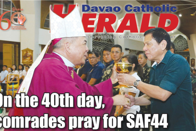 On the 40th day, comrades pray for SAF44