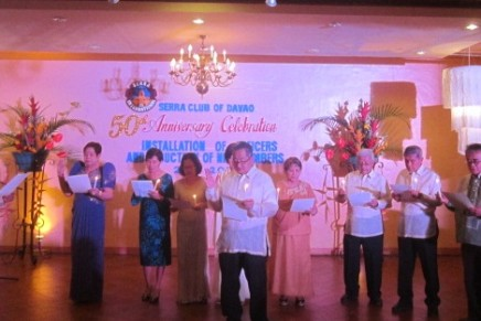 Serra Club at 50 inducts officers, members