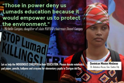 #Help Rebuild Lumad Communities and Schools