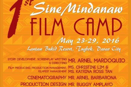 Mindanao filmmakers to host a week-long workshop in Davao Davao City