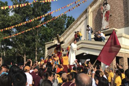Unang pista sa Sagrado Corazon de Jesus Nazareno Parish gisaulog