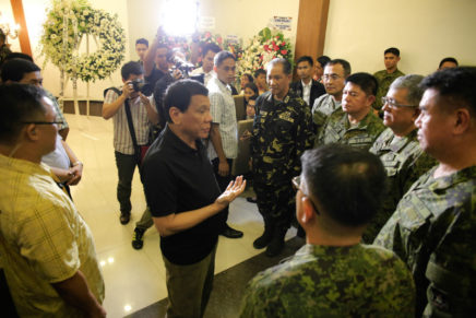 President Duterte, top officials offer condolences to slain army officer's family