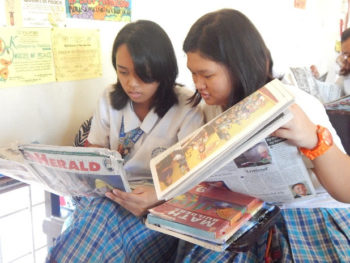 Holy Cross of Mintal subscribes to Catholic newspaper