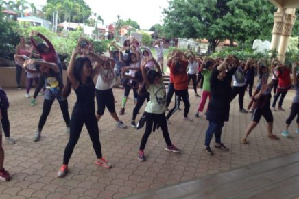 OLLP presents zumba to open fiesta