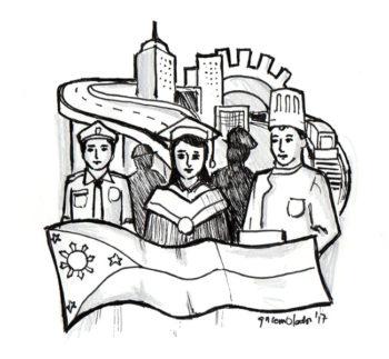 Caricature Labor Day Editorial