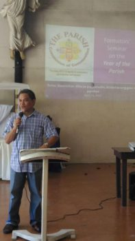 San Miguel Parish Panacan Formators Seminar on the Year of the Parish