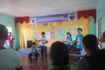 Kids, Youth for Christ Camp sa Sta. Cruz Parish, Talicud