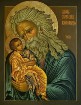 St. Simeon with baby Jesus