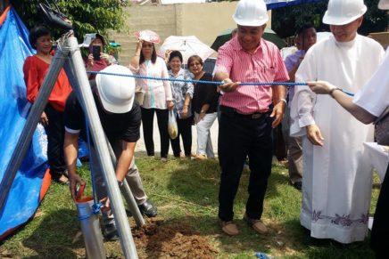 Ground breaking sa parish rectory gipahigayon
